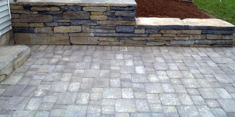 Wall and pavers